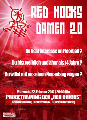 Red Hocks Damen 2.0